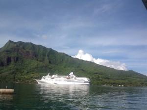 ぱしふぃっくびいなす号タヒチ モーレア島
